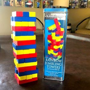 Jenga Rainbow Tumbling Towers blocks game
